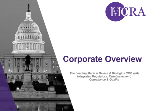 MCRA Corporate Overview